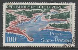 Ivory Coast 1971 Airmail - Port Of San Pedro 100f Multicoloured SW 380 O Used - Ivory Coast (1960-...)