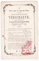DP Marie Fr. Verschaeve ° Ieper 1803 † 1866 X François Et. Joos - Devotion Images