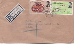 ILE MAURICE  RECOMMANDE  BUREAU  PORT LOUIS CENTRE - Mauritius (1968-...)