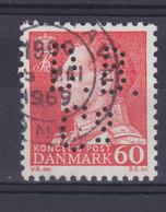 Denmark Perfin Perforé Lochung (D13) 'D.B.Co.' The Dominion Belting Co., København Fr. IX Stamp (2 Scans) - Abarten Und Kuriositäten