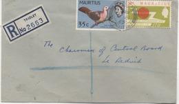 ILE MAURICE  RECOMMANDE  BUREAU  TRIOLET - Mauritius (1968-...)