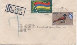ILE MAURICE  RECOMMANDE  BUREAU   PORT LOUIS G.P.O.B - Mauritius (1968-...)