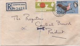 ILE MAURICE  RECOMMANDE  BUREAU   CURPIPE ROAD - Mauritius (1968-...)