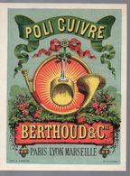 Publicité Couleur POLI CUIVRE Berthoud Et Cie (PPP14248) - Advertising