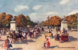 PARIS - Avenue Des Champs Elysées  - Attelages, Autos...      (108214) - Paintings