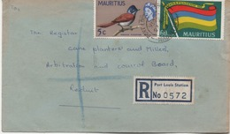 ILE MAURICE  RECOMMANDE  BUREAU   PORT LOUIS STATION - Mauritius (1968-...)