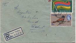 ILE MAURICE  RECOMMANDE  BUREAU   BRISEE VERDIERE - Mauritius (1968-...)