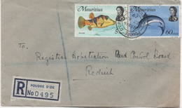 ILE MAURICE  RECOMMANDE  BUREAU   POUDRE D'OR - Mauritius (1968-...)