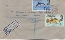 ILE MAURICE  RECOMMANDE  BUREAU  CHEMIN GRENIER - Mauritius (1968-...)