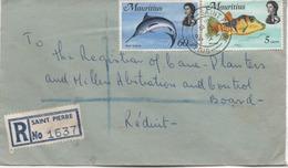 ILE MAURICE  RECOMMANDE  BUREAU   SAINT PIERRE - Mauritius (1968-...)