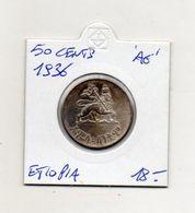 Etiopia - 1936 - 50 Centesimi - Argento - Vedi Foto - (MW1385) - Etiopia
