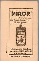Buvard  MIROR  Neuf (PPP14250) - Carte Assorbenti