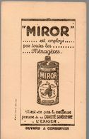 Buvard  MIROR  Neuf (PPP14250) - Buvards, Protège-cahiers Illustrés