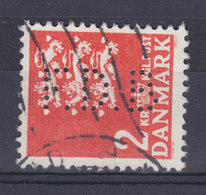 Denmark Perfin Perforé Lochung (F14) 'F.D.B.' Fællesforeningen For Danmarks Brugsforeninger,  København (2 Scans) - Abarten Und Kuriositäten