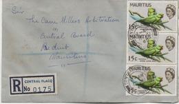 ILE MAURICE  RECOMMANDE  BUREAU    CENTRAL FLACQ - Mauritius (1968-...)