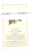 Faire-part De Décès R.P. Ignace DRAIME, Dominicain - LAHAGE - BELLEFONTAINE 1898 / BRUXELLES 1963 -Huy,Libramont (b234) - Décès