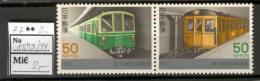 Japan C80 MNH 1977 2v Transport Train - Japan