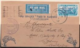 New Zealand    .     SG   .     554 On Letter         .     O     .    Cancelled   .   /   .   Gebruikt - Gebruikt