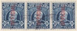 New Zealand    .     SG   .    O  76  3x         .         O         .       Cancelled   .   /   .   Gebruikt - Dienstzegels
