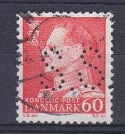 Denmark Perfin Perforé Lochung (S52a) 'S.S.' Søllerød Sogneraad, Holte Fr. IX. Stamp (2 Scans) - Abarten Und Kuriositäten