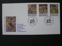 CYPRUS 1997  Christmas   FDC.. - Chypre (République)