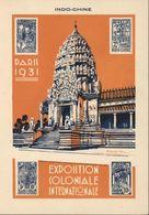 Entier 15ct Brun Storch G2a Indochine 3 11 31 CP Exposition Coloniale Internationale De Paris 1931 - Entiers Postaux