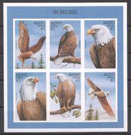 T998 !!! IMPERFORATE MALDIVES FAUNA BIRDS THE BALD EAGLE 1KB MNH - Adler & Greifvögel