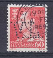 Denmark Perfin Perforé Lochung (V15) 'V.L.' V. Løwener, København Fr. IX. Stamp (2 Scans) - Abarten Und Kuriositäten