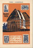 Entier 15ct Brun Storch G2 CP Exposition Coloniale Internationale De Paris 1931 Togo Cameroun CAD 3 11 31 - Entiers Postaux