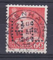 Denmark Perfin Perforé Lochung (H48) 'H L' Sygekassen Helselaget, København Fr. IX. Stamp (2 Scans) - Abarten Und Kuriositäten
