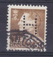 Denmark Perfin Perforé Lochung (H01) 'H' Hjemmeværnet Landsdækkende Fr. IX. Stamp Frihavnens Postkontor Cds. (2 Scans) - Abarten Und Kuriositäten