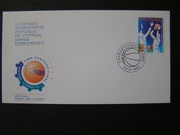 CYPRUS 1997 Final Of The European Basketbal Cup For Mens Clubs  FDC.. - Chypre (République)