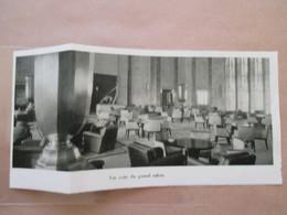 (1933) Le Grand Salon ART DECO Avant L' INCENDIE    - Paquebot L'Atlantique - Coupure De Presse Originale (Encart Photo) - Documents Historiques