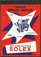 SOLEX Tecnique De Réglage Et Montage N° 16 - Old Paper