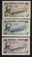 PIA -BEL - 1947 - Francobolli Per Pacchi Postali - Francobolli Precedenti Sovrastampati  -  (Yv Pacchi  298-300) - Bagages