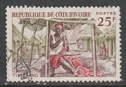 Ivory Coast 1965 Native Handicrafts 25f Multicoloured SW 286 O Used - Ivory Coast (1960-...)