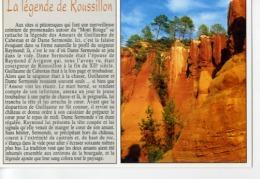 """CP84410 - ROUSSILLON - Falaises D'ocre - """"La Légende De Roussillon"""" - Frankreich"""