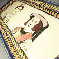 ~ PLAT A CAKE EN FAÏENCE HB QUIMPER - Bretagne Breton Gateau - Quimper/Henriot (FRA)