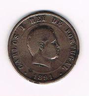 &  PORTUGAL  20 REIS 1891 - Portugal