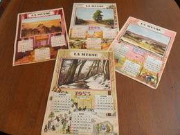 ANCIEN CALENDRIER 1953 / 4 FEUILLES / LES SAISONS OFFERT PAR LE JOURNAL LA MEUSE / DIM 30X21 CM - Calendriers