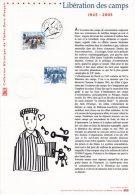 """"""" 50 ANS DE LA LIBERATION DES CAMPS """" Sur Document Philatélique Officiel De 2005 N° YT 3781. DPO (Prix à La Poste = 5 €) - 2. Weltkrieg"""