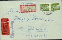 DDR 1964 1965 Michel Nr. 1080 X2 Eilsendung / Exprès Einschreiben Von Magdeburg Nach Düsseldorf, 2 Scans - DDR