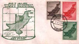 Pakistan Fdc 1955 & Stamps Unification Of West Pakistan Kashmir Disputed Territory - Pakistan