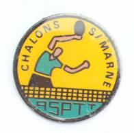 Pin's ASPTT CHALONS SUR MARNE (51) - Section TENNIS  DE TABLE - Pongiste - H302 - Mail Services