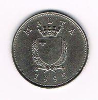 &  MALTA  25 CENTS  1995 - Malte