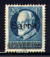 SARRE - 21* - LOUIS II - 1920-35 Saargebiet – Abstimmungsgebiet
