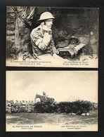 2 X CPA Postal CEP FRANCE WWI Ww1 WAR Guerre SOLDADOS PORTUGUESES Posto Telefonico+Concurso Hipico. Phot.Garcez 1915s - Guerre 1914-18