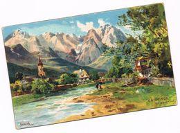549 Heinisch Garmisch Loisachtal Isar Künstlerkarte - Garmisch-Partenkirchen