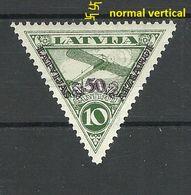 LETTLAND LATVIA 1931 Michel 190 A WM Normal Vertical MNH - Letland
