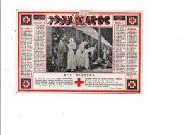 CALENDRIER DE POCHE 1917 SOCIETE DE SECOURS AUX BLESSES MILITAIRES - Calendriers